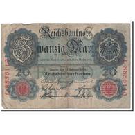 Billet, Allemagne, 20 Mark, 1914, 1914-02-19, KM:46b, TB - [ 2] 1871-1918 : Empire Allemand