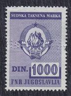 Yugoslavia Court Revenue Stamp Of 1000 Din, Used (o) - Yugoslavia