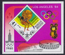 Mongolia 1980 Moscow Olympic Games, Block, MNH (**) Michel 1310 Block 65 - Mongolia