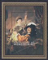 Mongolia 1981 Rembrandt - 375th Birth Anniversary, Block, MNH (**) Michel 1405 Block 74 - Mongolia