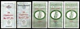 DENMARK, Tobacco Tax, Used, F/VF - Revenue Stamps