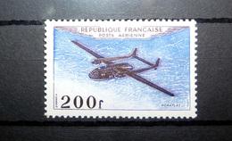 FRANCE POSTE AÉRIENNE 1954 N°31 * (PROTOTYPES. NORATLAS. 200F VIOLET ET OUTREMER) - 1927-1959 Mint/hinged