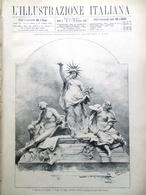L'illustrazione Italiana 28 Gennaio 1883 Vittorio Emanuele Austria Savoia Roma - Ante 1900