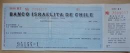 CHEQUE BANCO ISRAELITA DE CHILE - Cheques & Traverler's Cheques