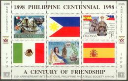 Philipinas 1998 Mi#bl122 MNH Cv Eur6 Ships - Philippines