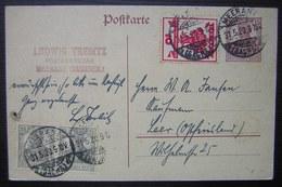 1920 Meerane (Sachsen) Ludwig Trebitz Postsekretär ( Deutsches Reich Allemagne) - Allemagne