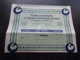 TISSOT-PERRAIN A L'abondance Des Douceurs (3000 Francs) VINCENNES - Shareholdings