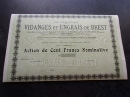 Syndicat Des VIDANGES ET ENGRAIS DE BREST (finistère) - Aandelen