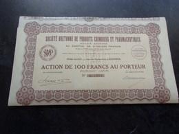 BRETONNE DE PRODUITS CHIMIQUES ET PHARMACEUTIQUES (1931) QUIMPER , FINISTERE - Shareholdings