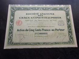 CHAUX & CIMENTS DU POHER (riec Sur Belon , Finistère) - Shareholdings
