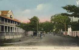 Broad Street LAGOS (Southern Nigeria) Comptoirs Henri Dupuy Colorisée RV - Nigeria