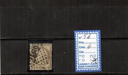 France Cérès - N° 56 (GC2489) Monthedy - Meuse (dent Courte) - Marcophilie (Timbres Détachés)