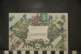 CP, Souvenir De Champagne, Diverses Vues - Champagne-Ardenne