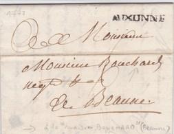 LAC De Auxonne (21) Pour Beaune (21) - 16 Juillet 1777 - Taxe Manuelle 6 + Marque Linéaire 'AUXONNE' - Vins - Marcofilie (Brieven)