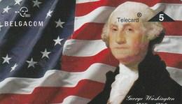TELECARD 5     BELGACOM   .GEORGE WASCHINGTON    DOS VIERGE - Belgium