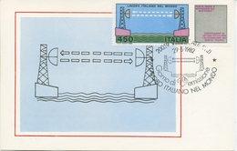 ITALIA - FDC MAXIMUM CARD 1982 - LAVORO ITALIANO - PONTE RADIO - ANNULLO SPECIALE - Maximum Cards