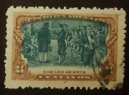 O) 1910 ARGENTINA, TOWN MEETING- CABILDO ABIERTO FROM 1810 - 24 CENTAVOS - SHIFTED - Colombia