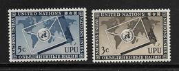 ONU 1953 UPU  YVERT N°17/18  NEUF MNH** - New York -  VN Hauptquartier