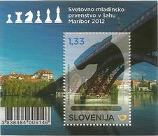 SI 2012-971 WORLD CHAMPIONSHIP IN CHESS, SLOVENIA, S/S, MNH - Slovénie