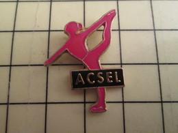 PIN513D Pin's Pins / Rare Et Beau : SPORTS D'HIVER PATINAGE ARTISTIQUE CLUB ACSEL ROUEN - Winter Sports