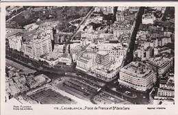 MAROC---CASABLANCA--place De France Et Boulevard De La Gare-- Voir 2 Scans - Casablanca
