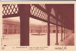 MAROC---MARRAKECH--cour Du Palais De La Bahia-- Voir 2 Scans - Marrakech