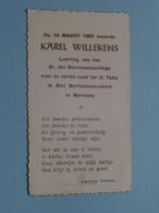 Karel WILLEKENS Op 19 Maart 1957 Te St. Bartholomeuskerk MERKSEM ( Zie/voir Photo ) ! - Communion