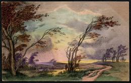 B2771 - Litho ?? Künstlerkarte Gemälde - M.M. Vienne - Gel 1918 Bamberg - Künstlerkarten