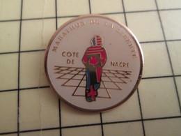 PIN513D Pin's Pins / Rare Et Beau : NORMANDIE CALVADOS MARATHON DE LA LIBERTE COTE DE NACRE - Athletics