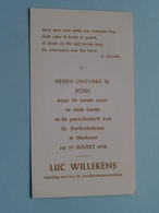 Luc WILLEKENS Op 19 Maart 1958 Te St. Bartholomeuskerk MERKSEM ( Zie/voir Photo ) ! - Communion