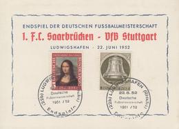 Carte   ALLEMAGNE   Championnat  De  Football     SAARBRÜCKEN - STUTTGART    LUDWIGSHAFEN   1952 - [7] République Fédérale