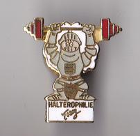 PIN'S  THEME SPORT  HALTEROPHILIE  TORCY - Haltérophilie