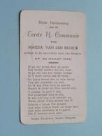 Magda Van Den BROECK Op 22 Maart 1956 Te Parochiale Kerk Van OKEGEM ( Zie/voir Photo ) ! - Communion