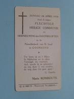 Maria ROMBOUTS Op 26 April 1959 Te Parochie Kerk Van St. Jozef Te GOOREIND ( Zie/voir Photo ) ! - Communion