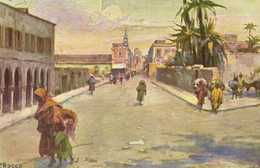 Illustrateur P Rocco TRIPOLI  VIA AL MERCATO DEL PANE  RV - Libya