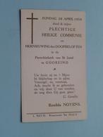 Renilda NOYENS Op 26 April 1959 Te Parochie Kerk Van St. Jozef Te GOOREIND ( Zie/voir Photo ) ! - Communion