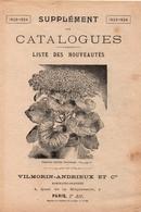 Catalogue 1923-24 Supplément Nouveautés Vilmorin-Andrieux - Garden