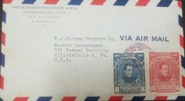 O) 1947 EL SALVADOR, AIRMAIL, MANUEL JOSE ARCE -SCOTT A163.TO UNITED STATES - El Salvador