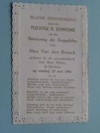 Alex Van Den BROECK Op 19 Mei 1963 In De Parochiekerk Van St. Pieter Te BERLAAR ( Zie/voir Photo ) ! - Communion