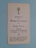 Freddy STERCKX Op 14 Mei 1950 In De Kerk Van St. Willibrordus Te BERCHEM ( Zie/voir Photo ) ! - Communion