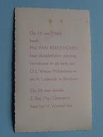 Mia VAN KERCKHOVEN Op 15 / 26 Mei 1966 In De Kerk Van O.L.Vrouw Middelares En H. Lodewijk Te BERCHEM (zie/voir Photo) ! - Communion