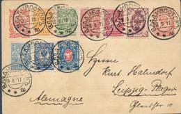 Russia 1911 Stationery Postcard With Add. Franking Vladivostok To Leipzig Germany (46_2420) - 1857-1916 Impero