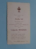 Lutgarde BRAEKEN Op 19 Maart 1961 In De Kerk Van O.L.Vrouw Altijddurende Bijstand Te DEURNE (zie/voir Photo) ! - Communion