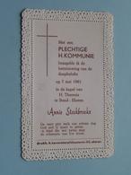 Annie STOCKBROEKX Op 7 Mei 1961 In De Kapel Van H. Theresia Te BUND-EKEREN (zie/voir Photo) ! - Communion