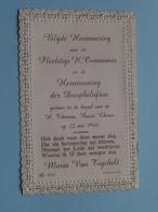 Maria VAN TIGCHELT Op 22 Mei 1960 In De Kapel Van H. Theresia Te BUND EKEREN (zie/voir Photo) ! - Communion