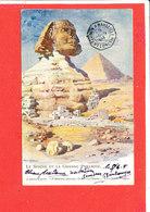 EGYPTE Cpa Le Spinx Et La Grande Pyramide           Edit Maronier - Pyramids