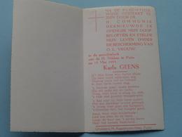 Karla GEENS Op 15 Mei 1955 In De Parochiekerk H. Niklaas Te PUTTE (zie/voir Photo) ! - Communion