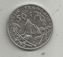 Monnaie , POLYNESIE FRANCAISE , 2000 , 50 F , 2 Scans, Frais Fr 1.65 E - French Polynesia