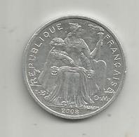 Monnaie , POLYNESIE FRANCAISE , 2008 , 2 F , 2 Scans - French Polynesia