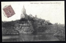 CPA ANCIENNE FRANCE- FIRMY (12)-  L'EGLISE ET L'ACIENNE DÉCOUVERTE DE CHARBON REMPLIE D'EAU- GROS PLAN - Firmi